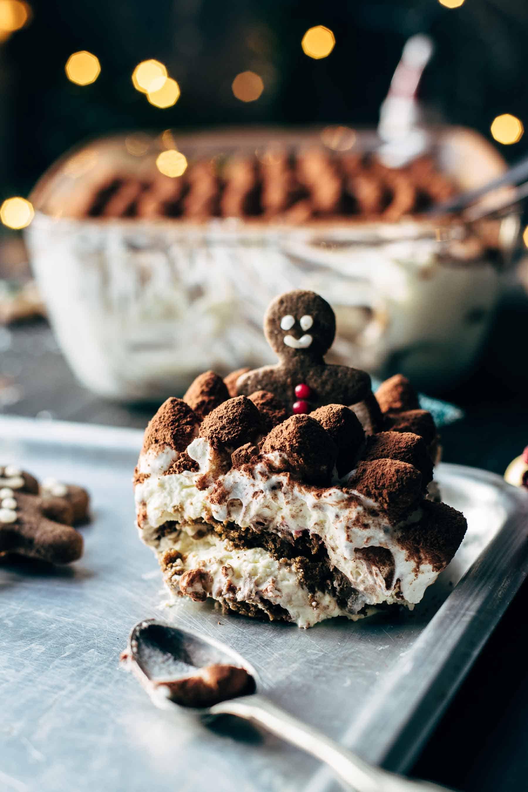 This Eggnog Gingerbread Tiramisu recipe is the perfect Christmas process Eggnog Gingerbread Tiramisu