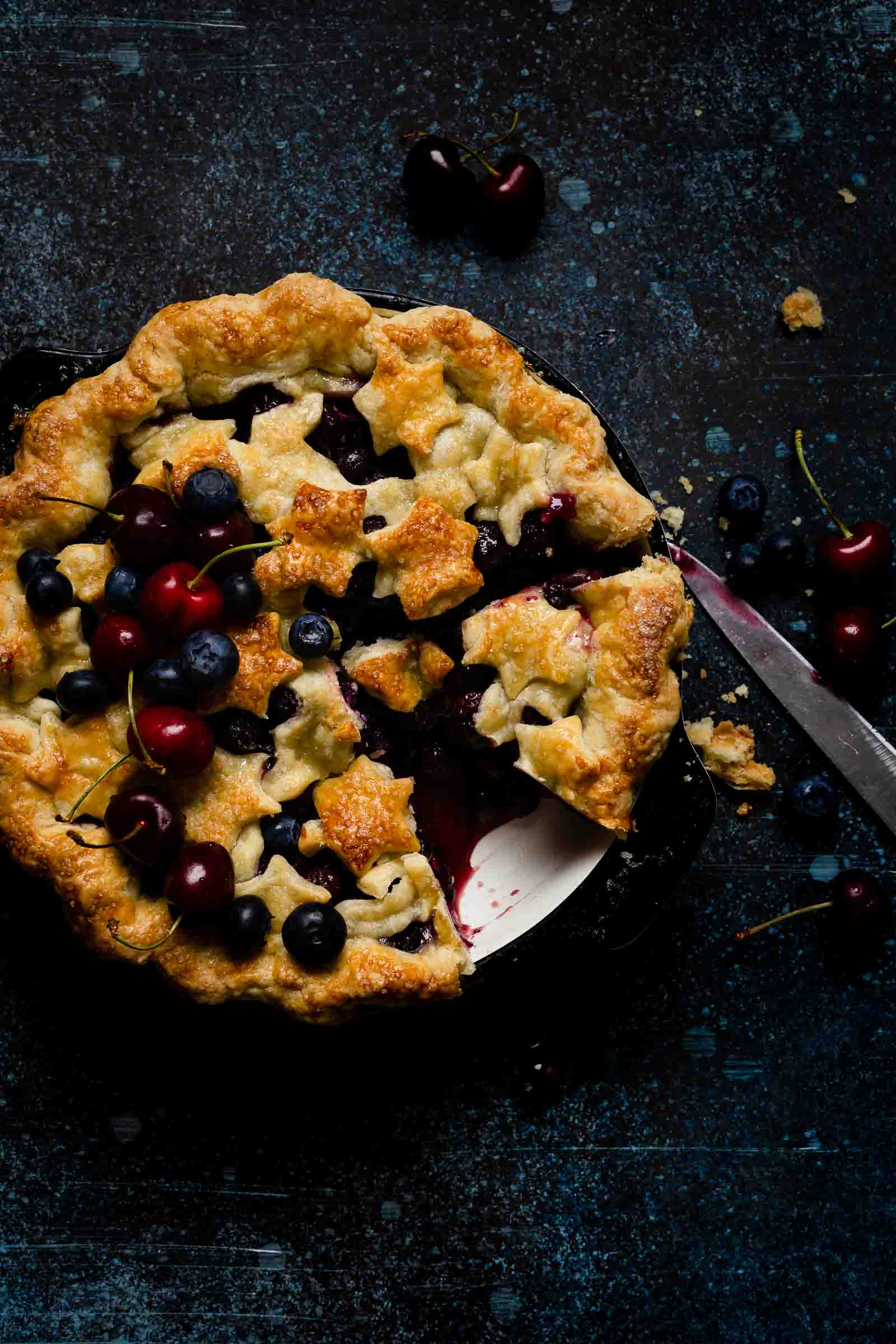 is bursting juicy blueberries together with has a Blueberry Pie