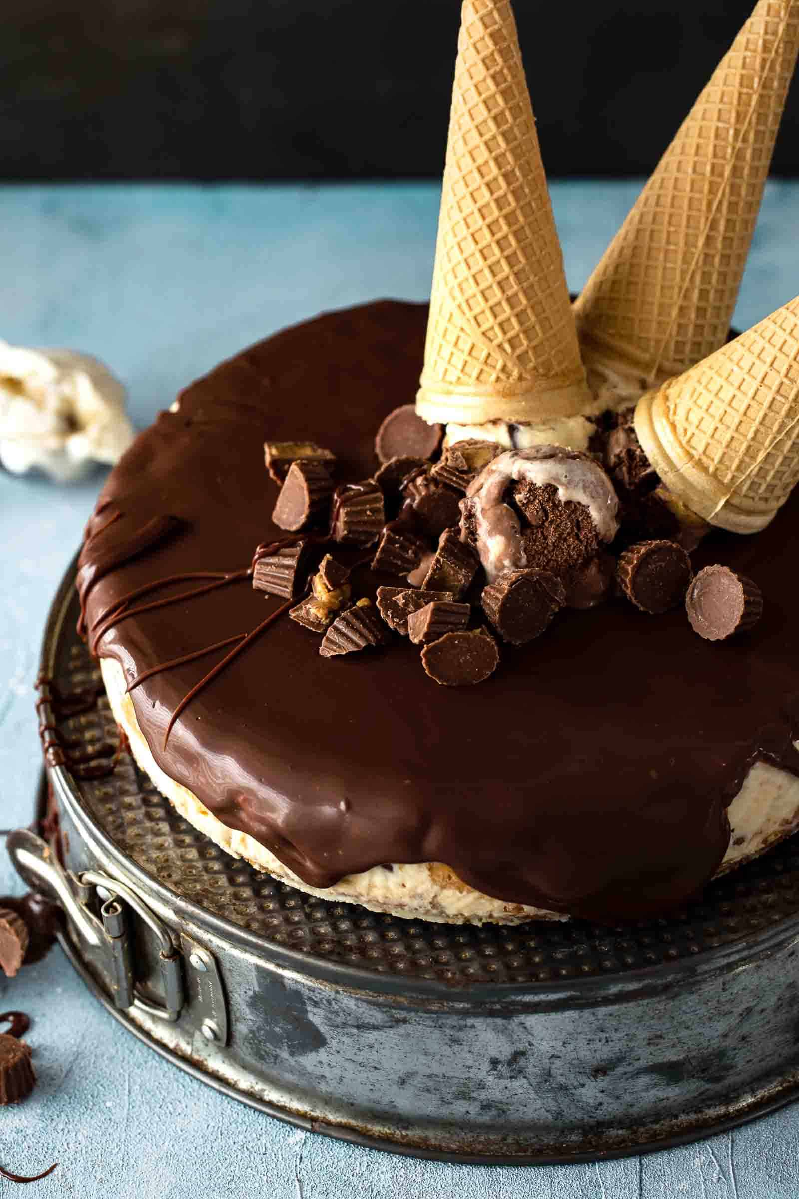 is the indulgent care for yous bring been waiting for Peanut Butter Ice Cream Cake
