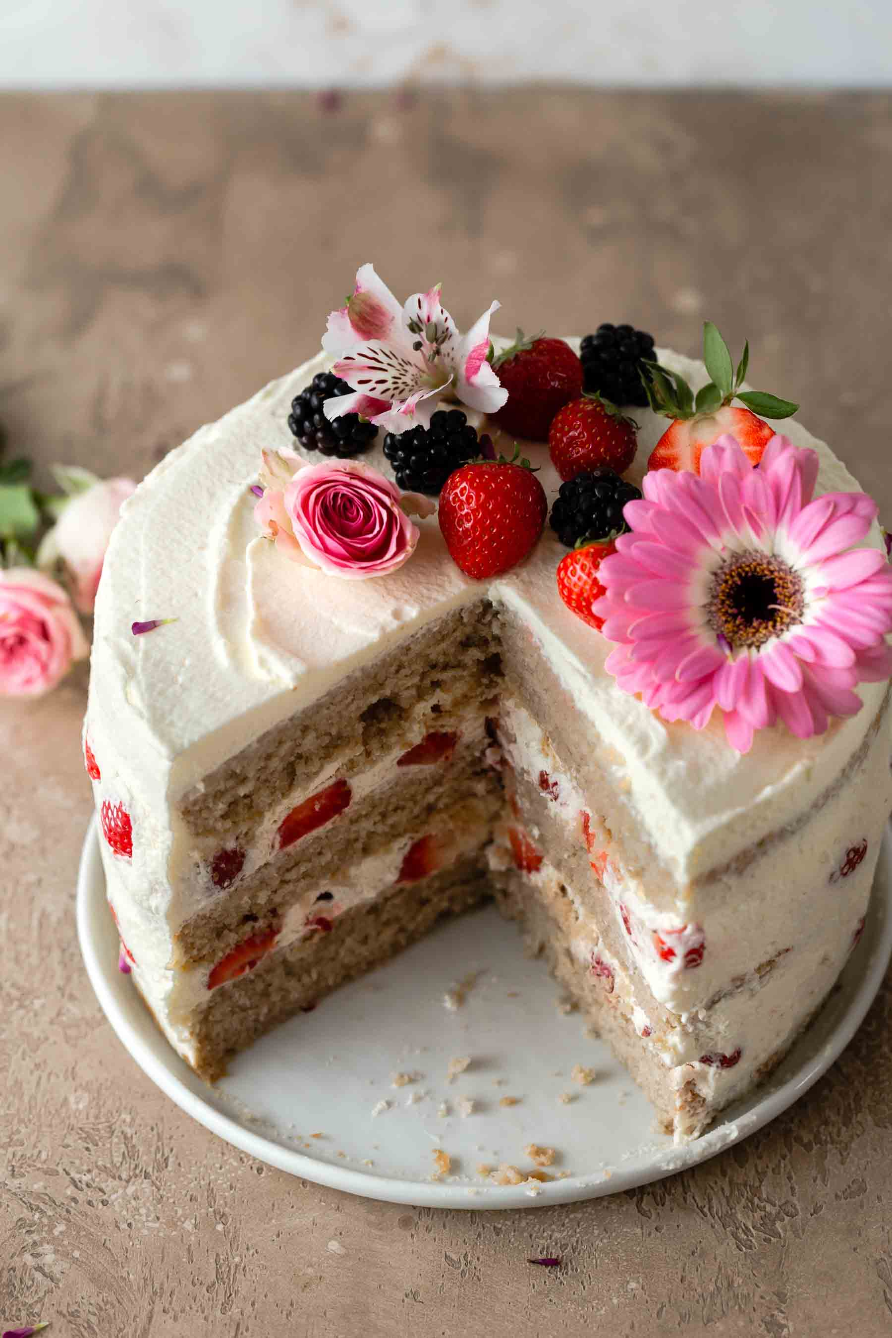 and every unmarried seize amongst teeth is beyond delicious Strawberry Cake